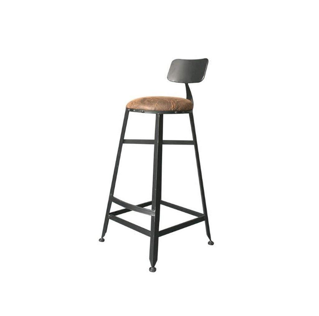 鉄のバーテーブルと椅子クリエイティブシングルバーチェアカフェハイチェアシンプルモダン FENPING (Color : Black) B07TRK5B43 Black
