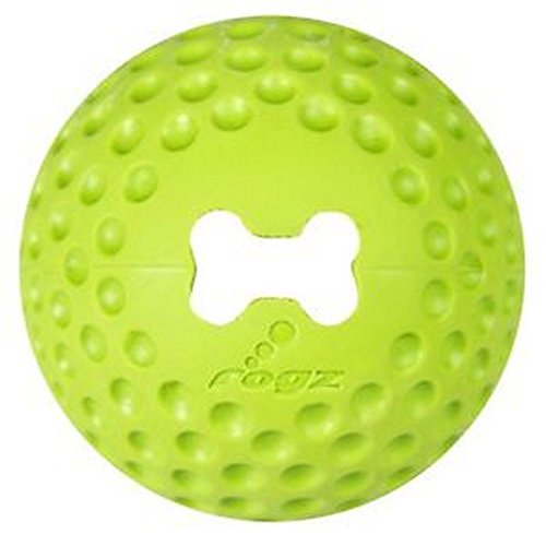 Rogz Gumz Medium Treat Ball (2.5 inch) (Lime Green)