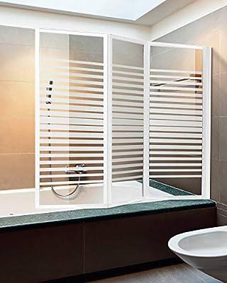 Mampara de pared para bañera 133/134, puertas plegables de cristal ...