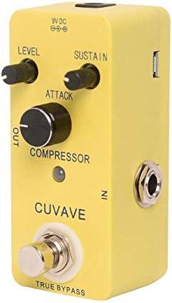 CUVAVE compresor de pedal de compresor de guitarra pedal de efecto con bypass verdadero de alta calidad de piezas de guitarra y accesorios