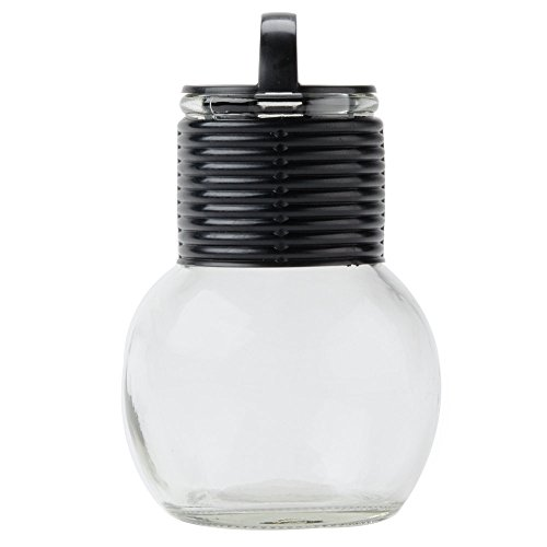 Glass Hottle with Black Band and Lid 10 oz. - 24/Case
