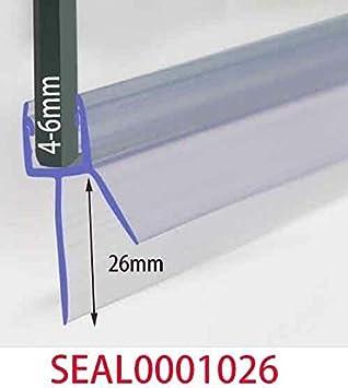 Profurni - Tira de sellado de plástico para mampara de ducha o mampara (grosor de 4 a 6 mm, 7 a 26 mm): Amazon.es: Bricolaje y herramientas