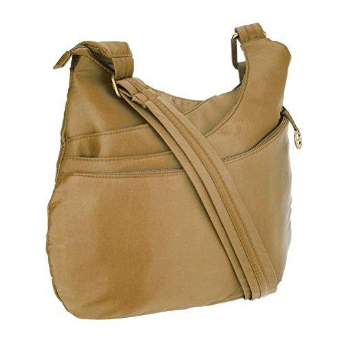 Travelon Anti-Theft Drape Pocket Crossbody - Bronze from Travelon