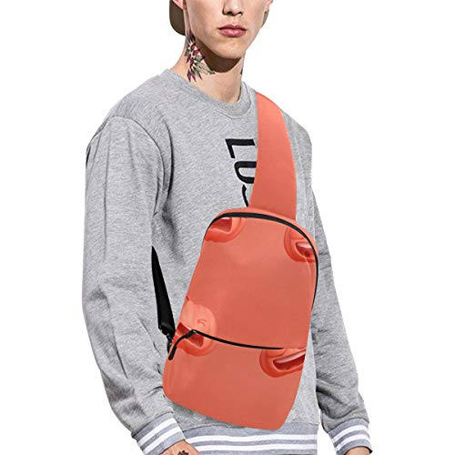 Sling Shoulder Bag Fashion Pumpkin Emoticon Melon Fruit Vegetable Natural Funny Emoticon Pack Crossbody Bag Daily Sports Climbing Or Multi-purpose Backpack Men And Women Ladies And Teens ()