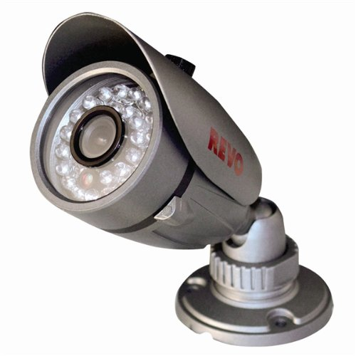 REVO America RCBS30-2 Indoor/Outdoor Bullet 600TVL Super High Resolution Camera - RJ12/BNC Type 80-Feet Nightvision by REVO America