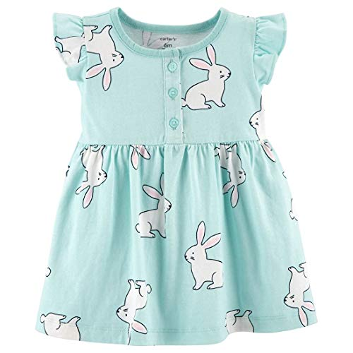 Carter's Baby Girls 2 Piece Green Bunny Dress and Diaper Cover (9 ()