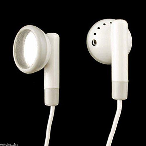 White 3.5mm Stereo Audio Jack Earbuds Headphones E...