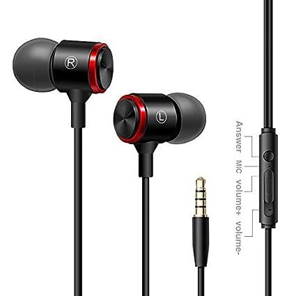 2f0936ad505 Auriculares In Ear Headphone ATOMZONE Auriculares de Musica AudÃfonos  Súper Bass con Micrófono Auricular con Cancelación
