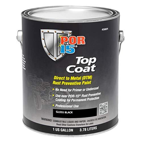 Price comparison product image POR-15 45801 Gloss Black Top Coat - 1 gal