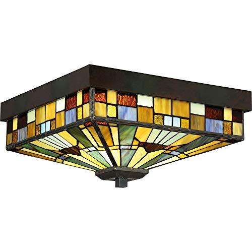 - Quoizel TFIK1614VA Inglenook Flush Mount Ceiling Lighting, 3-Light, 180 Watts, Valiant Bronze (7