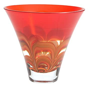 Amazon Evolution By Waterford 8 Inch Red And Amber Bowl