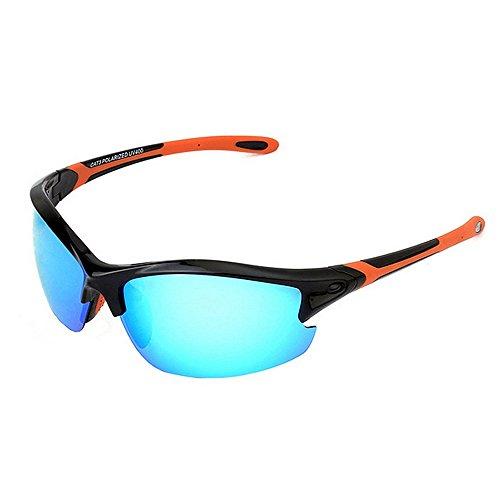Al Color Orange Montar Sol De Gafas para Polarizadas De Libre Aire Sol de Deportes Gafas De Gafas Goma Orange Hombre LBY 1wpqvU1