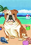 Bulldog - Tomoyo Pitcher Summer Beach Large Flag