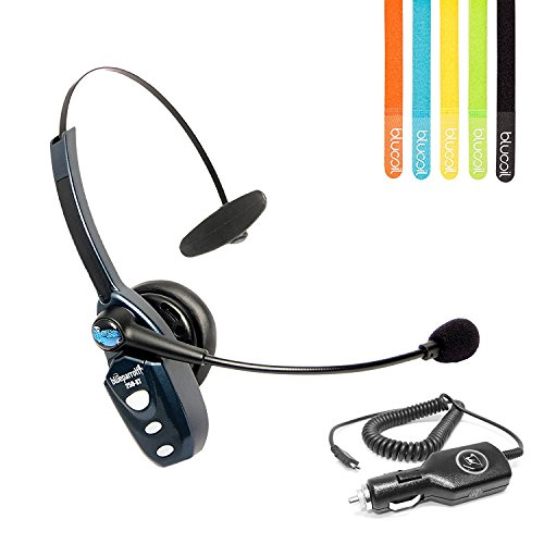VXi BlueParrott B250-XT Bluetooth Headset with AC Power Supply - INCLUDES - MobileSpec 12V Replacement Car Charger AND Blucoil 5-Pack of Cable Ties by blucoil (Image #7)