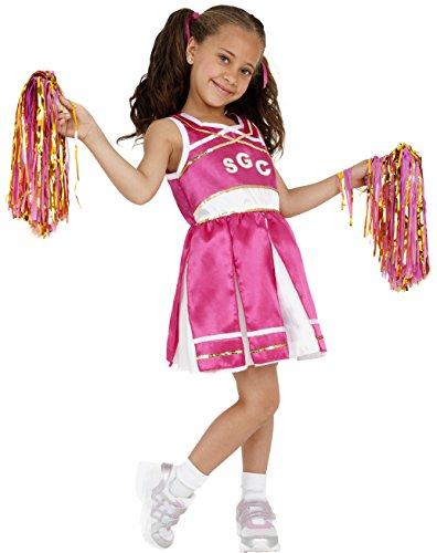 Smiffy's Children's Cheerleader Costume, Child, Dress And Pom Poms, Ages (Halloween Cheerleader Costume Uk)