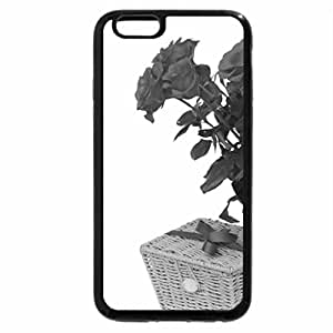 iPhone 6S Plus Case, iPhone 6 Plus Case (Black & White) - Roses and gift