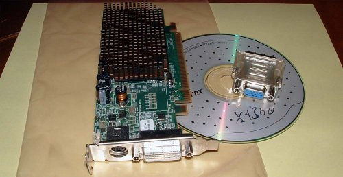 (Dell ATI Radeon X1300 128MB Windows 7 DVI Low Profile SFF PCI Express Video Graphics Card )