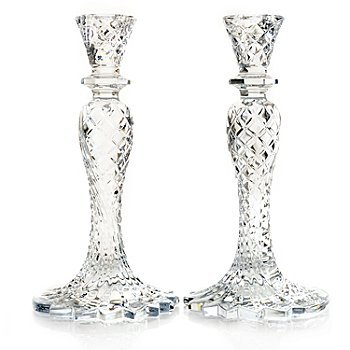 WATERFORD CRYSTAL SEA JEWEL/ SEAHORSE CANDLESTICKS by Waterford