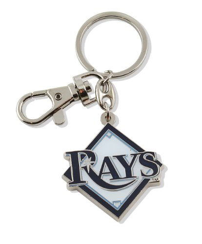 aminco MLB Tampa Bay Rays Team Logo Heavyweight Key Ring