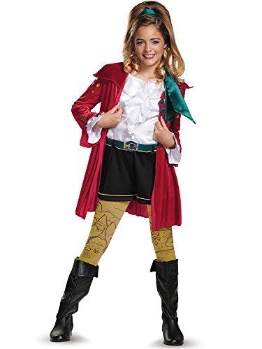 [Disguise CJ Deluxe Descendants Wicked World Disney Costume, Medium/7-8] (Captain Hook Costumes Disney)