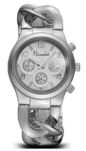 Novadab Stainless Chrono Steel Watch, Wrist Watches For Ladies (Chrono Ladies Watch)