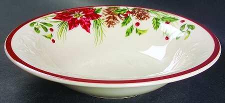 Longaberger Natures Garland Large Rimmed Soup Bowl