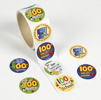 Stickers - Stickers & Labels & Teacher Stickers (100th Day Of School Stickers)
