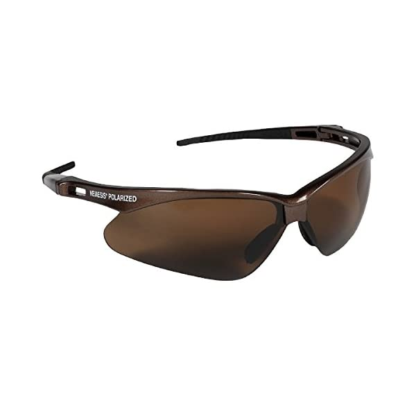 Jackson Safety V30 Nemesis Polarized Safety Glasses (28635), Polarized Smoke Lenses, Gunmetal Frame. Premium Pack 2