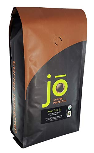 NEW YORK JO: 2 lb, Medium Dark Roast, Whole Bean Coffee, 100% Arabica Beans, USDA Certified Organic, NON-GMO, Fair Trade Certified, Signature House Blend, Gluten Free, Gourmet Coffee from Jo Coffee