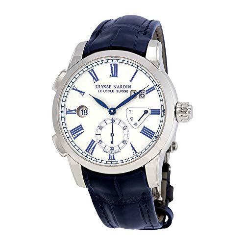 Ulysse Nardin Classic Dual Time White Enamel Dial Men's Watch 3243-132/E0 ()