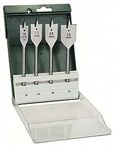 Bosch 2 609 255 275 - Juego de 4 brocas fresadoras planas (pack de 4)