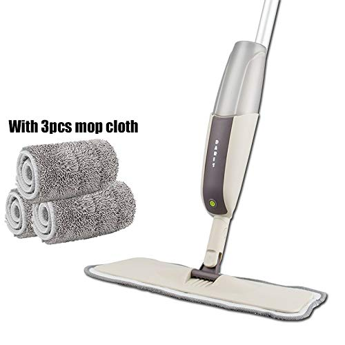 (| Mops | Spray Mop With Reusable Microfiber Pads 360 Degree Metal Handle Mop for Home Kitchen Laminate Wood Ceramic Tiles Floor Cleaning | by SOMITI)