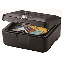 1. SentrySafe Fire Safe, Fire Resistant Chest, 0.2 Cubic Feet, Extra Small