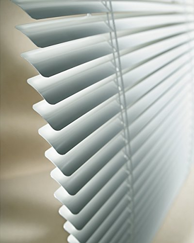 Made-to-Order Standard Mini Blinds, 1-inch Aluminum Slats, 47W x 39H, Almond