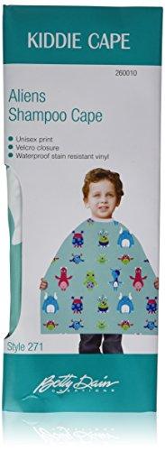 Hair Stylist Kid Vinyl Shampoo Cape #271 by Betty Dain with Velcro Closure Alien Print
