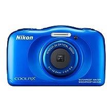 Nikon COOLPIX W100 13.2MP Waterproof Digital Camera, Blue (Certified Refurbished)