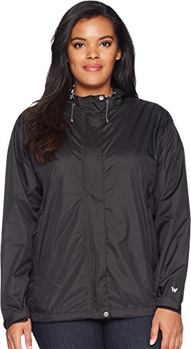 White Sierra Plus Women's Trabagon Rain Shell-Extended Size, Black, 2X ()