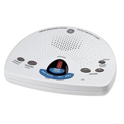 amazon com ge 29875ge1 phone answering machine white 29875ge1 rh amazon com GE Digital Answering Machine Digital Answering Machine Telephone