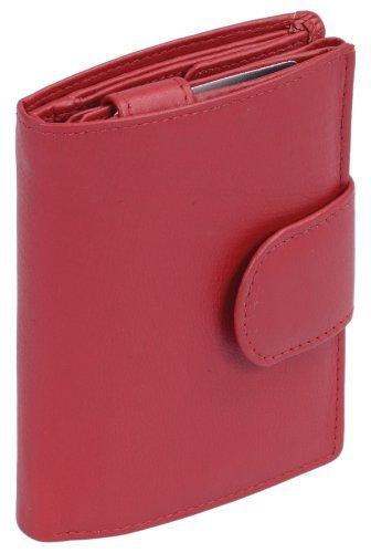 LEAS Portafoglio Donna, Vera Pelle, rosso Special Edition LE1124-01-13