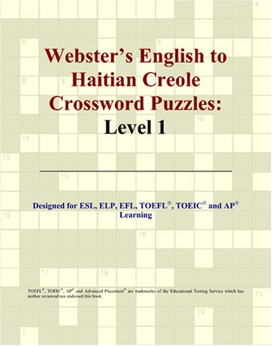 Download Webster's English to Haitian Creole Crossword Puzzles: Level 1 PDF
