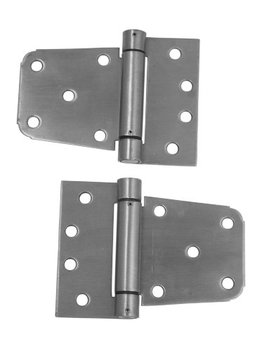 Auto Closing Gate Hinge Set, 3-1/2-Inch, Stainless Steel ()
