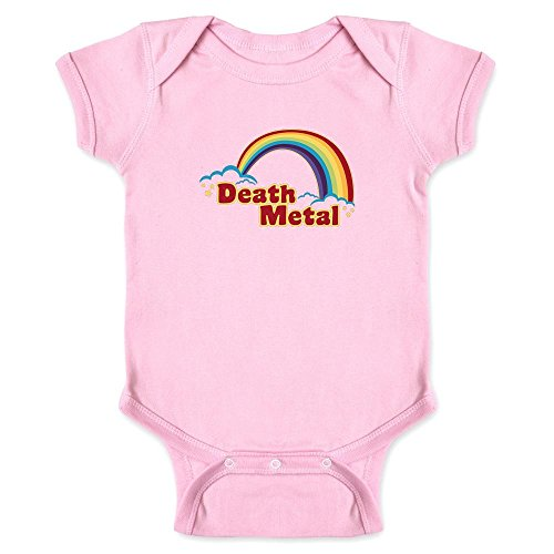 Pop Threads Death Metal Retro Rainbow Pink 12M Infant Bodysu