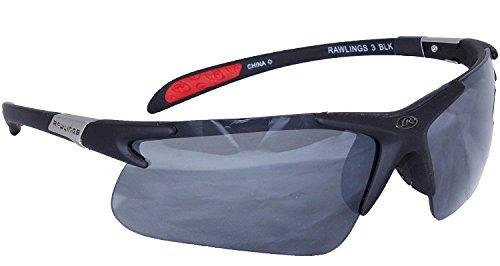 Rawlings 3 Sunglasses, Black, Smoke Mirror - Baseball Rawlings Sunglasses