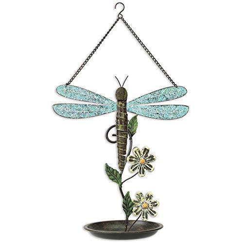 Sunset Vista Designs Dragonfly Birdfeeder, - Dragonfly Garden Decor