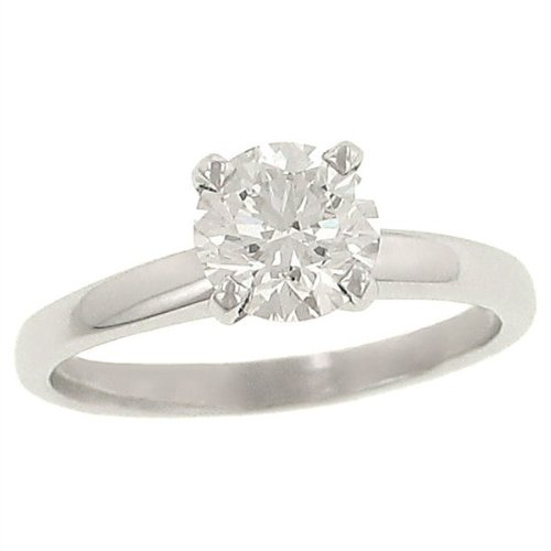 1.01 Carats Total Weight Round Diamond Solitaire (Si1 Round Fine Diamond Solitaire)
