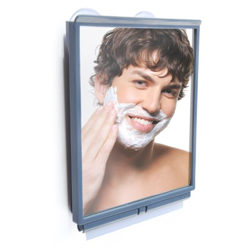 ToiletTree Products Fogless Shower Bathroom Mirror with Squeegee and Travel - Heated Mirrors Bathroom Round
