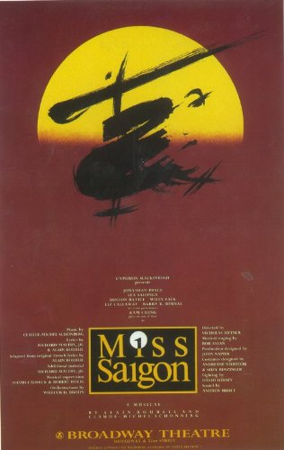 Miss Saigon Poster Broadway Theater Play Vintage Art MasterPoster Print