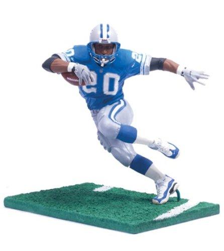(NFL Legends Figure: Barry Sanders Detroit Lions Blue Jersey )