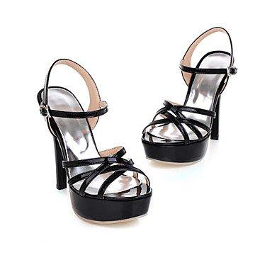 LvYuan Tacón Stiletto-Zapatos del club-Sandalias-Vestido Fiesta y Noche-Cuero Patentado-Negro Rojo Blanco Red