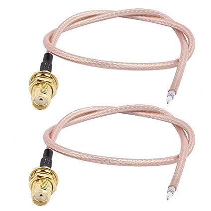 DealMux 2PCS RG316 solda fio SMA Antena WiFi Pigtail Cable 30 centímetros